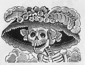 'La Catrina', representación de la muerte.